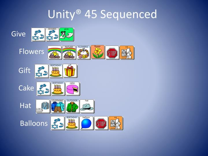 Unity® 45 Sequenced
