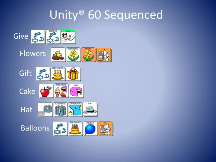Unity® 60 Sequenced