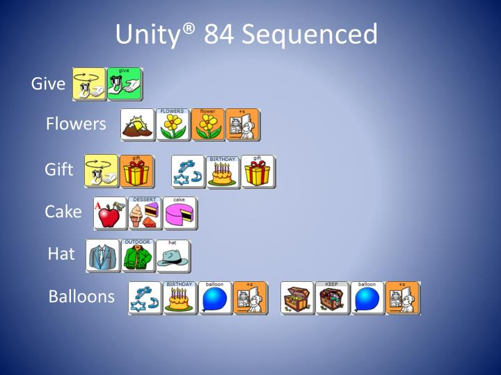 Unity® 84 Sequenced
