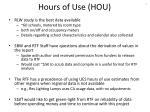 hours of use hou