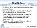 admire goals