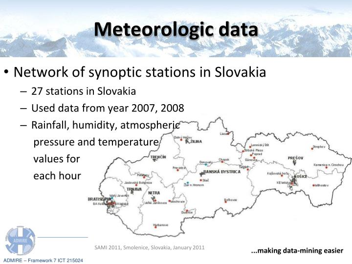 Meteorologic data
