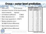 orava water level prediction