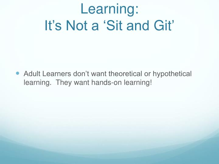 Interactive Professional Learning: