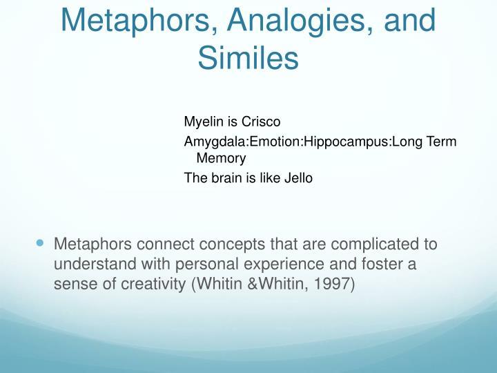 Metaphors, Analogies, and Similes