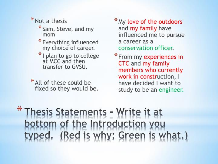 Not a thesis