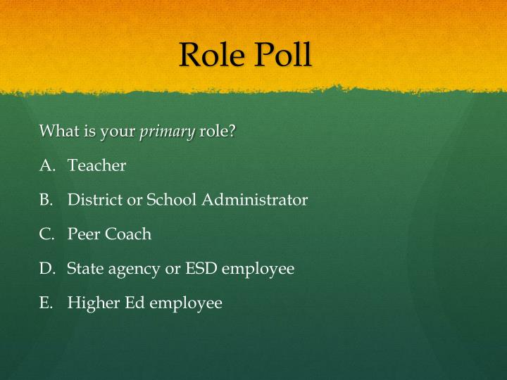 Role Poll