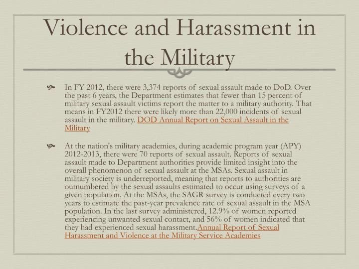 Violence and Harassment in the Military