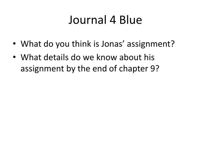 Journal 4 Blue