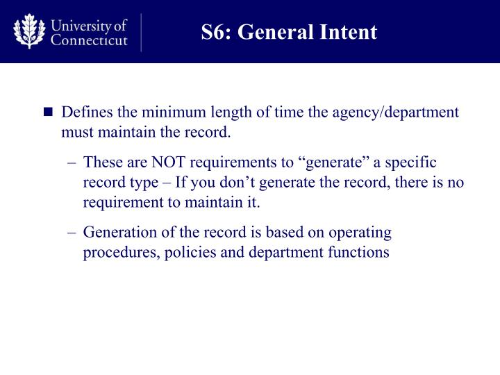 S6: General Intent