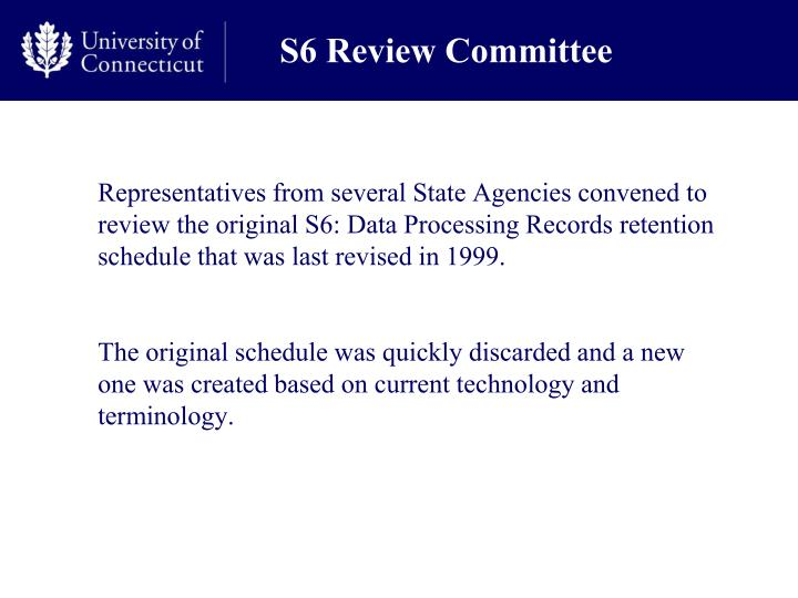 S6 Review Committee