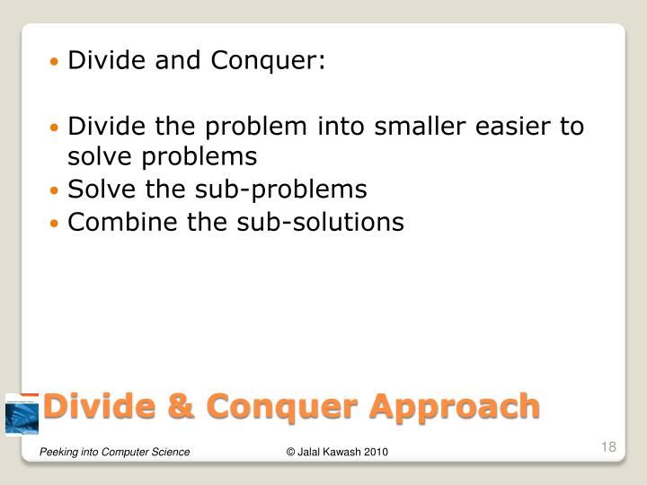 Divide and Conquer: