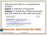 example searching the web