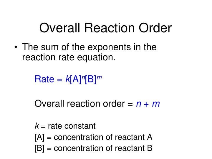 Overall Reaction Order