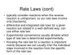 rate laws cont