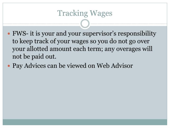 Tracking Wages