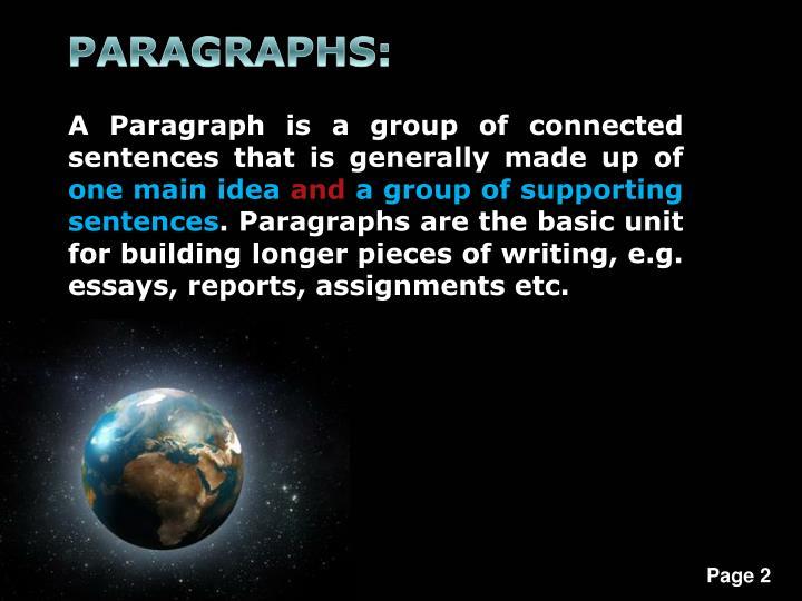 PARAGRAPHS: