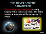 the development paragraph