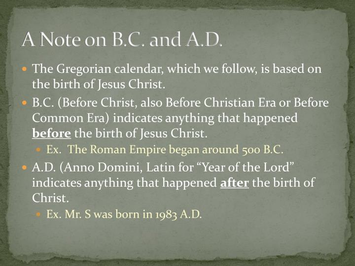 A note on b c and a d