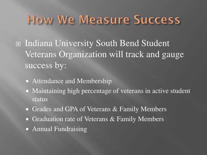 How We Measure Success