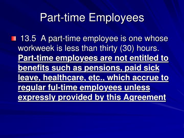 Part-time Employees