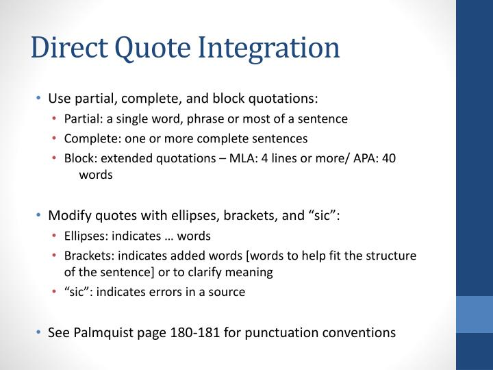 Direct Quote Integration