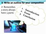 3 write an outline for your composition