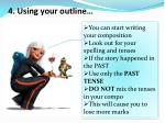 4 using your outline