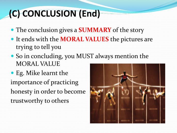(C) CONCLUSION (End)