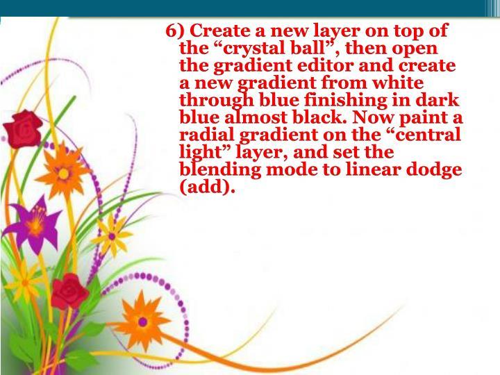 6) Create