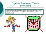 cognitive dissonance theory festinger