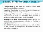 5 basic types of check sheets