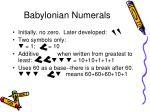 babylonian numerals