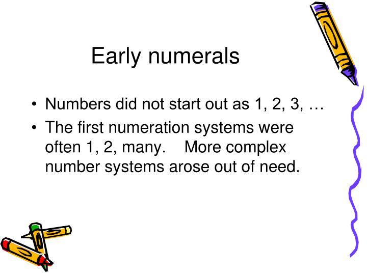 Early numerals