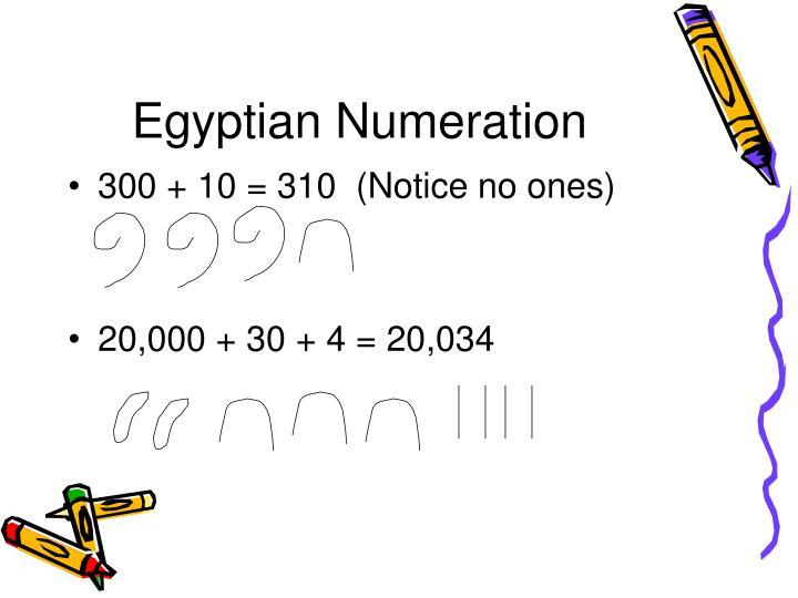 Egyptian Numeration