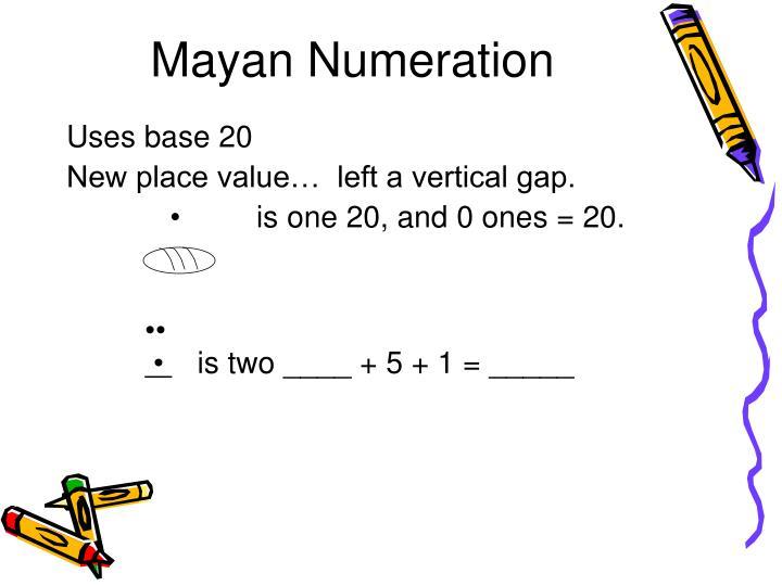 Mayan Numeration