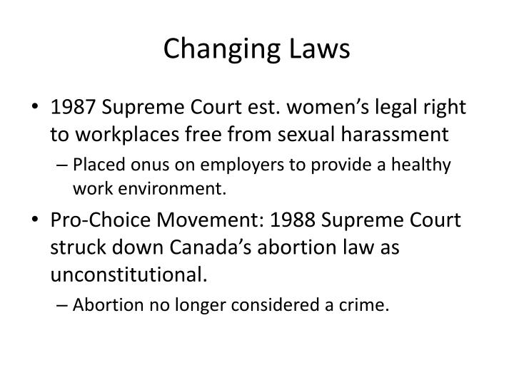 Changing Laws