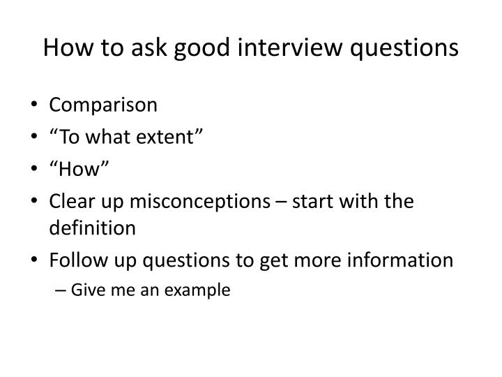 How to ask good interview questions