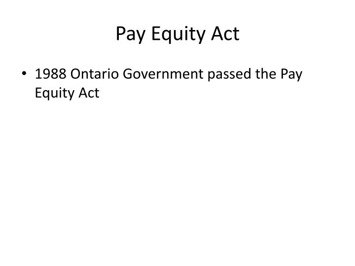 Pay Equity Act