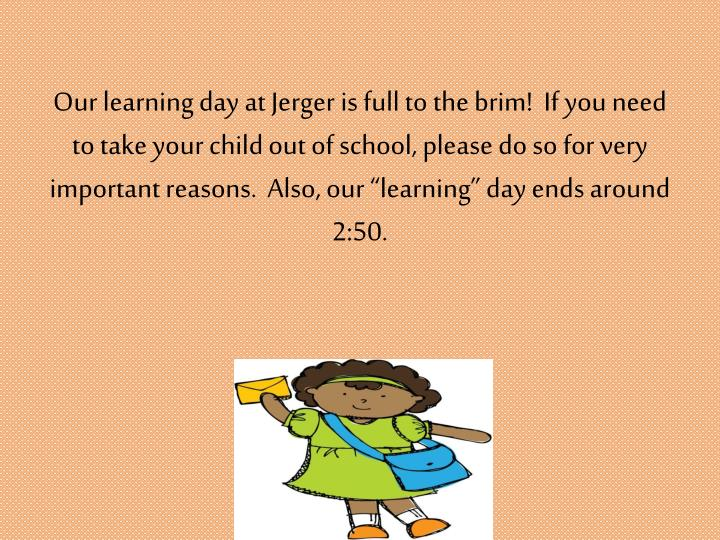 Our learning day at