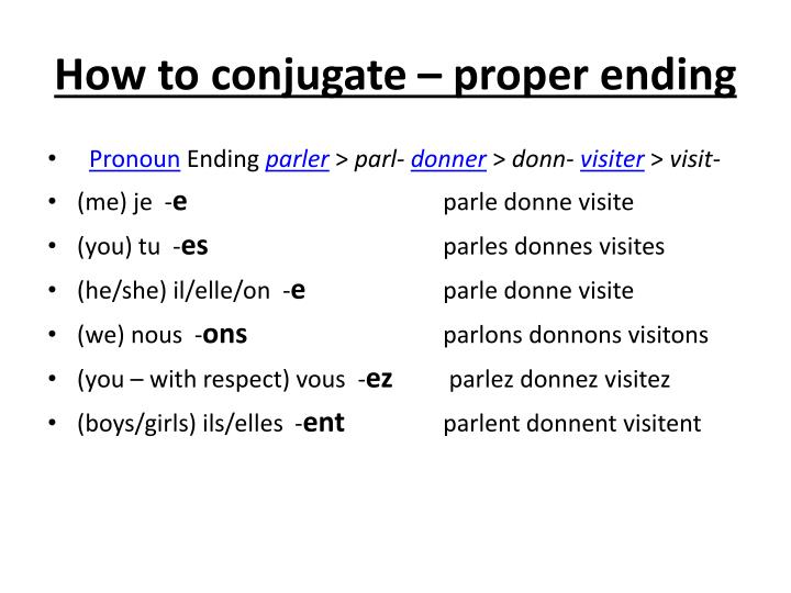 How to conjugate – proper ending
