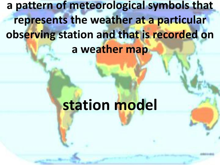 a pattern of meteorological symbols that represents the
