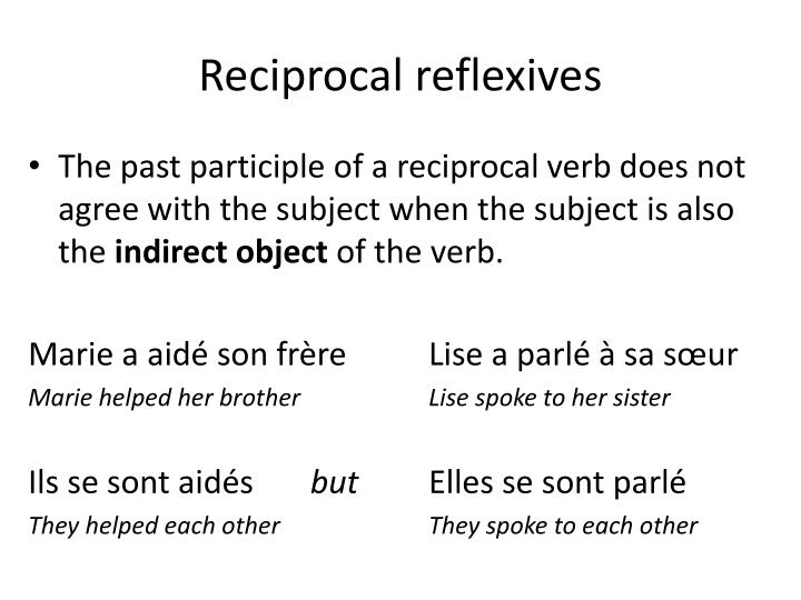 Reciprocal reflexives