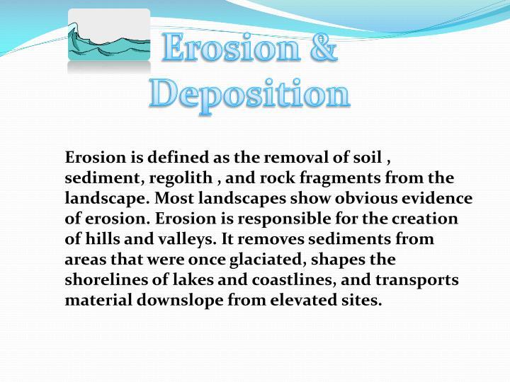 Erosion &