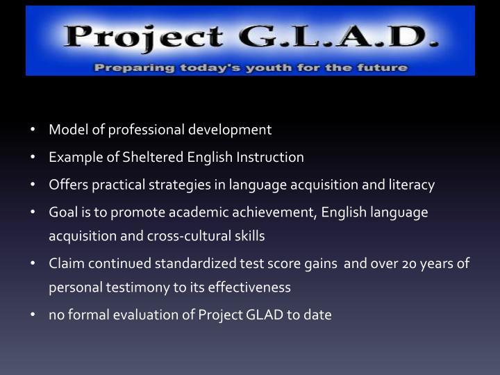 Model of professional development