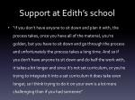 support at edith s school1