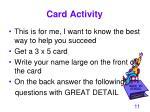 card activity