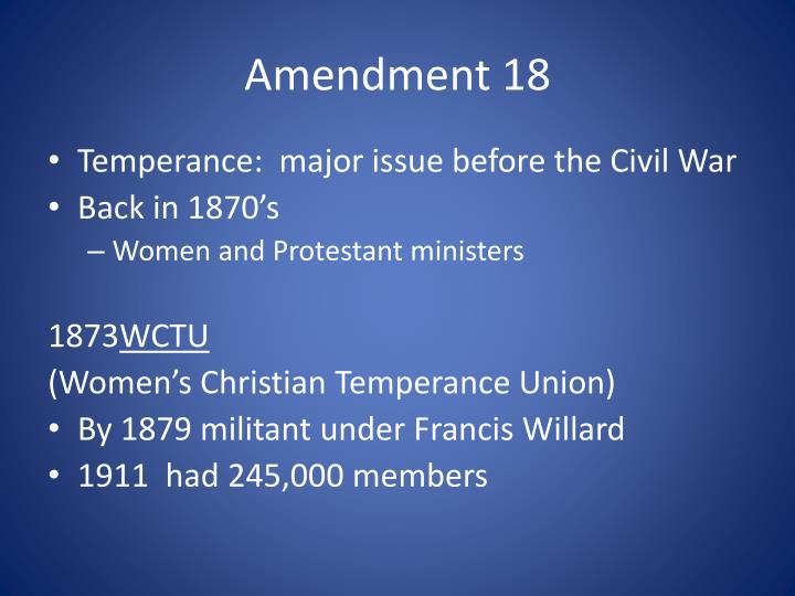 Amendment 18