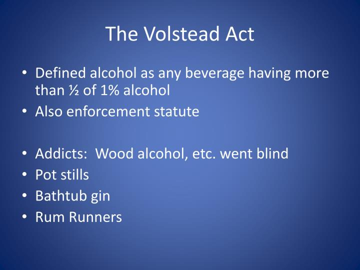The Volstead Act
