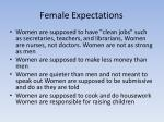 female expectations